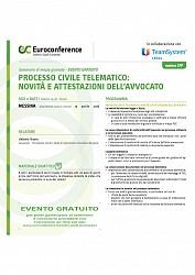 Cambio sede Seminario  Processo civile telematico: novità e attestazioni dell avvocato  Messina 15/04/2016 - GRUPPO EUROCONFERENCE