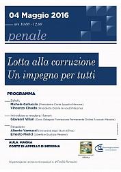POF 2016 - Penale - Lotta alla corruzione. Un impegno per tutti