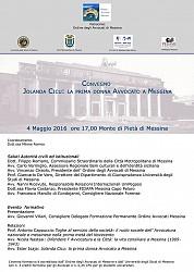 Convegno Jolanda Cicu: la prima donna avvocato a Messina