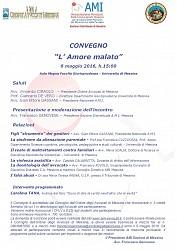 Convegno Ami Messina 6 maggio - Presentazione libro 7 maggio