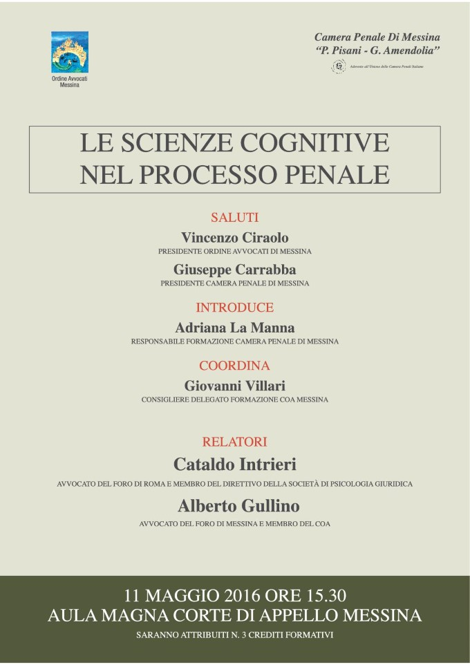 Le scienze cognitive nel processo penale