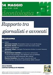 POF 2016 - Deontologia - Rapporto tra giornalisti e avvocati.