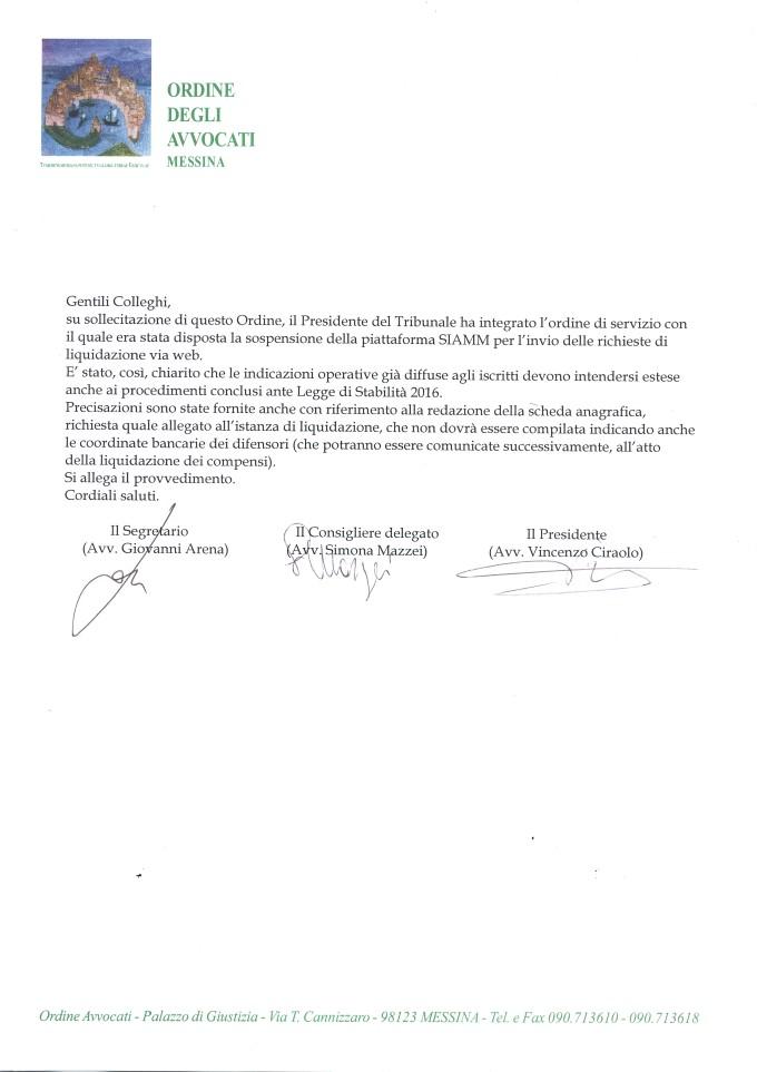 Integrazione sospensione piattaforma SIAMM
