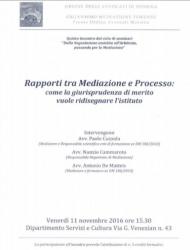 Rapporti tra Mediazione e Processo