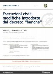 Esecuzioni civili: modifiche introdotte dal decreto  banche
