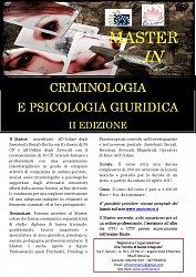 Master in Criminologia e Psicologia giuridica II Edizione