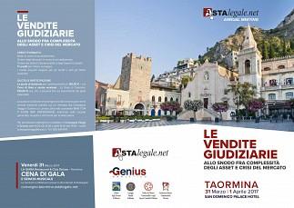 Le Vendite Giudiziarie  evento a Taormina il 31 Marzo e 1 Aprile 2017