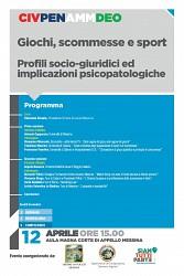 POF 2017 – CIVILE, PENALE E DEONTOLOGIA - Giochi, scommesse e sport: profili socio-giuridici ed implicazioni psicopatologiche