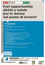 POF 2017 – CIVILE E DEONTOLOGIA - Pari opportunità: diritti o tutele per le donne sul posto di lavoro.