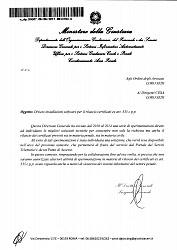 Comunicazione del Ministero di Giustizia (sul rilascio dei certificati ex art. 335 cpp)