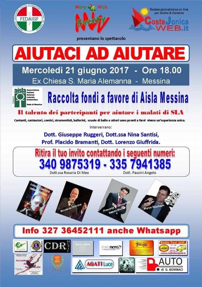 Raccolta fondi a favore di Aisla Messina