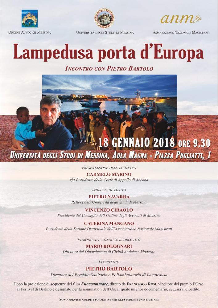 Lampedusa porta d Europa: Incontro con Pietro Bartolo