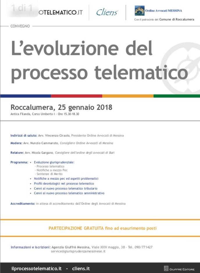 Evoluzione del Processo Telematico