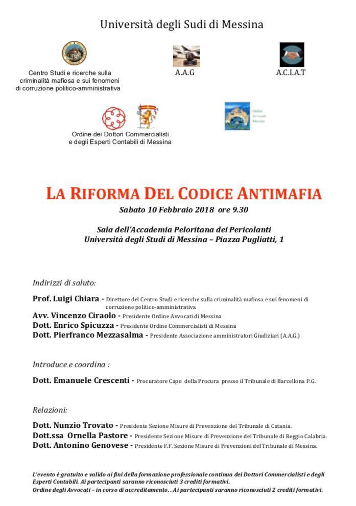 La Riforma del Codice Antimafia
