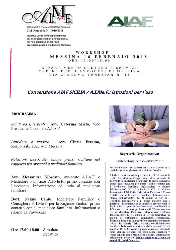 Convenzione AIAF SICILIA - A.I.Me.F. : Istruzioni per l uso