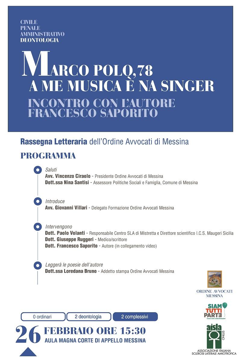 Incontro con Francesco Saporito