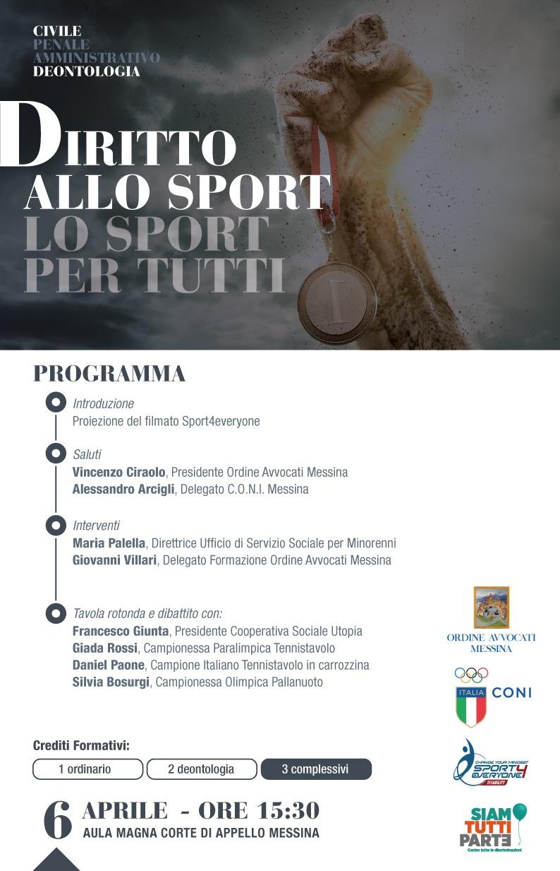 Il Diritto allo Sport: lo sport per tutti