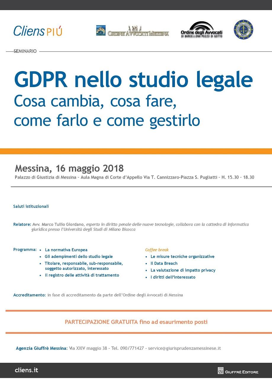GDPR nello studio legale