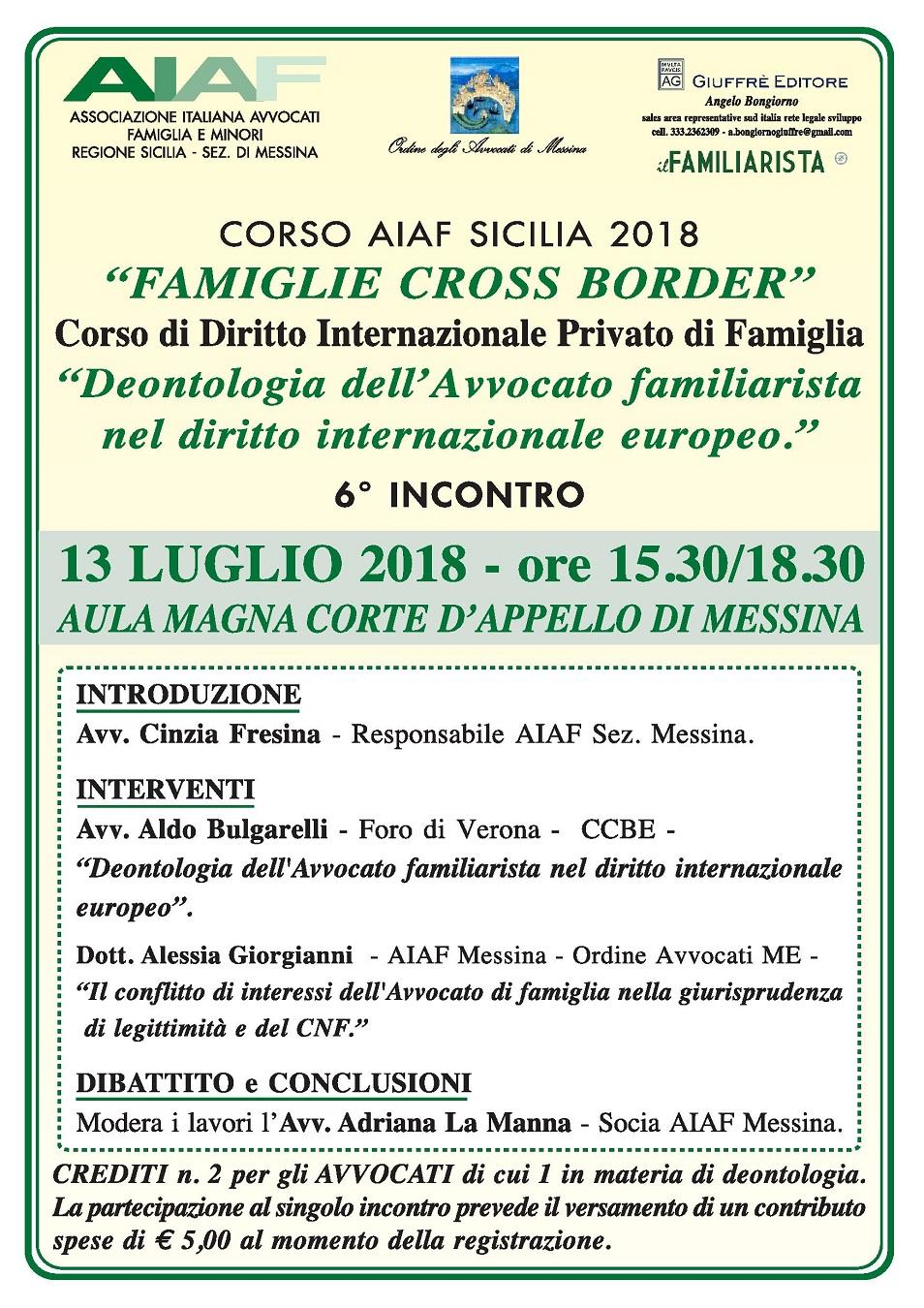 Corso Aiaf Sicilia 2018 - Famiglie Cross Boder