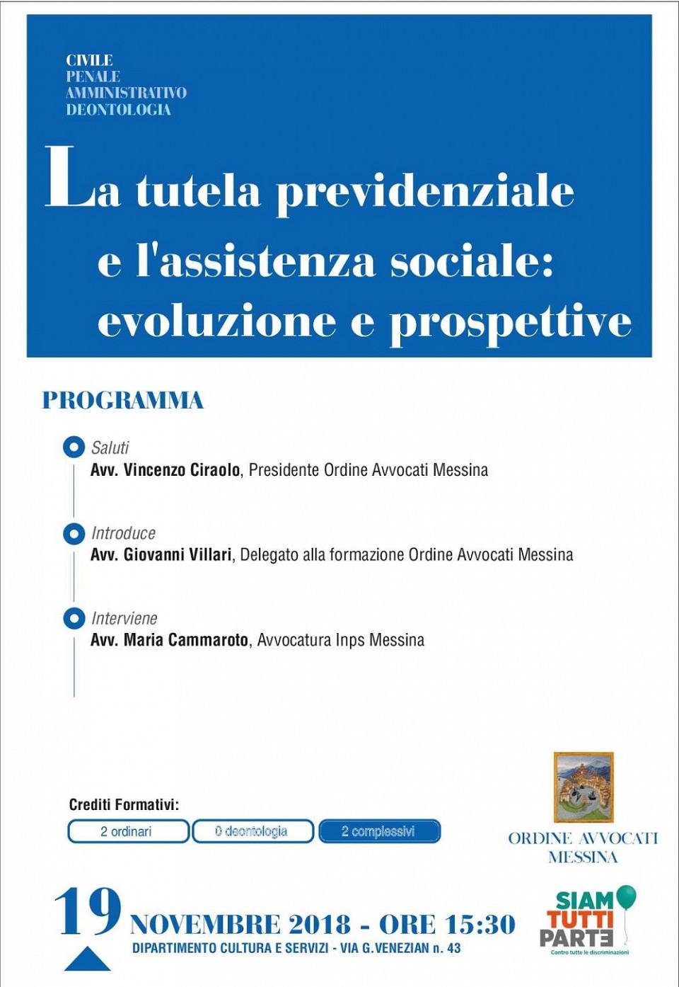 La tutela previdenziale e l assistenza sociale: evoluzione e prospettive