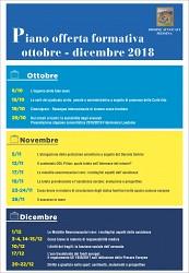 Piano Offerta Formativa Ottobre /Dicembre 2018