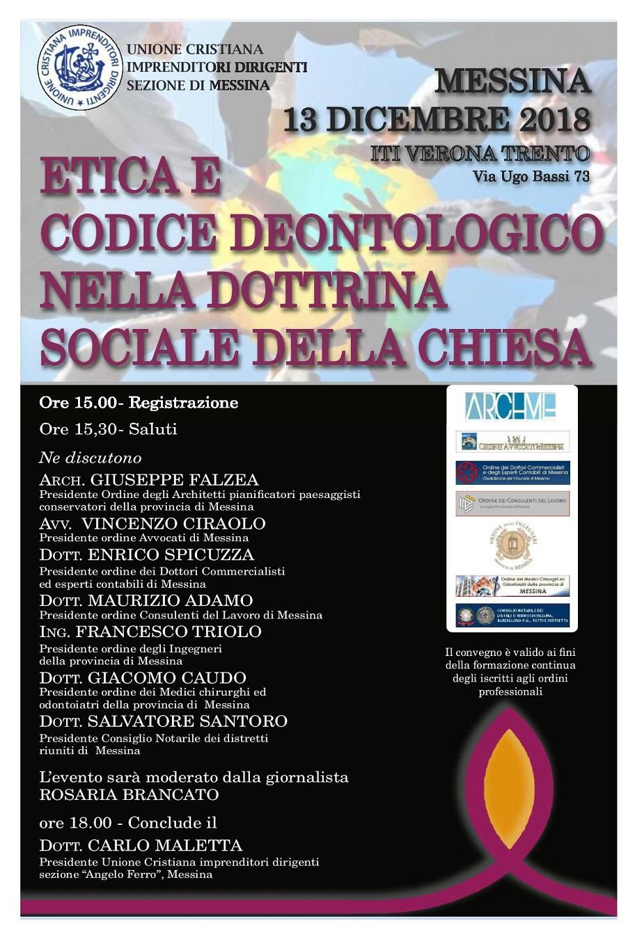 Etica e codice deontologico nella dottrina sociale della chiesa