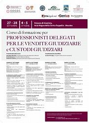 Corso di formazione per professionisti delegati per le vendite giudiziarie e custodi giudiziari