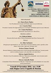 La figura della donna nella prospettiva legislativa, dell operatrice di giustizia e della rea