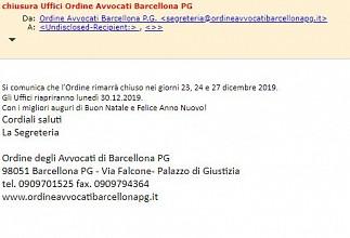 CoA Barcellona - Chiusura uffici