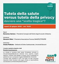 Tutela della salute versus tutela della privacy