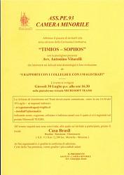 Camera Minorile - III edizione Cerimonia Celebrativa - Timios-Sophos
