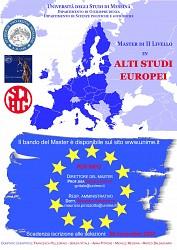 Unime - Master di II livello in Alti Studi Europei