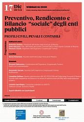 Preventivo, Rendiconto e Bilancio -sociale- degli enti pubblici