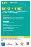 Bonus 110% - profili tecnici, giuridici e fiscali, rischio o opportunità?