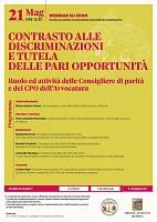 Contrasto alle discriminazioni e tutela delle pari opportunita
