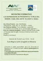 AIAF - incontro formativo - La Giurisdizione di prossimità e tutela del minore -
